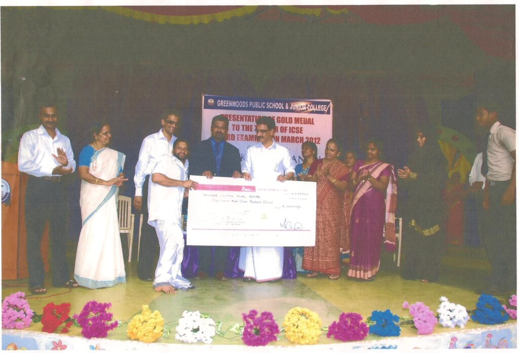 Receiving award from KP Mohanan, Ex Minister for Agriculture